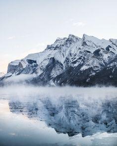lake minnewanka. banff. alberta. -25°f mornings. - Processed with VSCO with 4 preset
