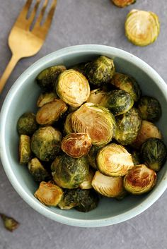 Dijon Roasted Brussels Sprouts | girlversusdough.com @girlversusdough