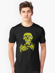 An awesome, scary, zombie Halloween style novelty tee that is perfect partying and trick-or-treating / Treat yourself, or make this T-Shirt the perfect Halloween novelty gift for Boys, Girls, Mom, Dad, Grandma, Grandpa, or for no reason at all! • Also buy this artwork on apparel, phone cases, home decor, and more.