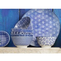 Picture of Bol de porcelana Nippon Blue Tokyo Design Studio Tokyo Design, Sweet Home, Metal, Tableware, Wood, Glass, Pattern, Blue, Studio Design