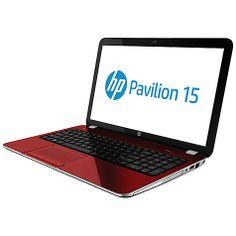 "Buy HP Pavilion 15-n219sa Laptop, Intel Core i3, 6GB RAM, 1TB, 15.6"", Red Online at johnlewis.com"
