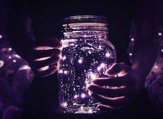 purple fairy lights in a jar Purple Aesthetic, Aesthetic Photo, Aesthetic Pictures, Aesthetic Themes, Belle Photo, Fairy Lights, Beautiful Pictures, Glow, Artsy