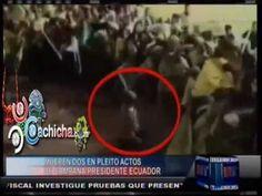 Muere Dos apuñalada en pleito de campaña presidente de Ecuador #NoticiasTelemicro #Video - Cachicha.com