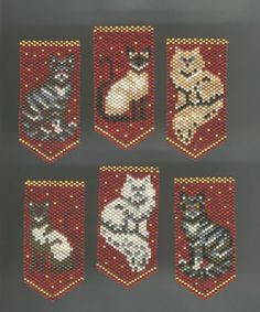 Kitty Ornament Pieces Beaded by Linda Thompson-Mills - Northern California .yet to be assembled (Pattern by Deb Moffet-Hall) Seed Bead Patterns, Beaded Jewelry Patterns, Peyote Patterns, Beading Patterns, Pony Bead Crafts, Beaded Crafts, Bead Lizard, Beaded Ornament Covers, Beaded Banners