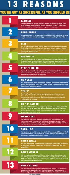 13 reasons why you are not that successful…