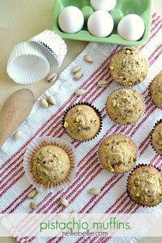 Pistachio muffins; our first recipe in our series of muffins. If you didn't see our first article, you'll want to go take a look at our muffin mix recipe. It is a universal mix (okay, …