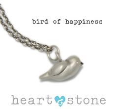 Coming Very Soon! bird of happiness charm necklace! The latest from our new designer, Nicole Malinosky. Available with our without lovely little diamond eyes:)