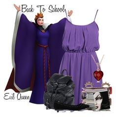 Back To School: Evil Queen by kmacleod on Polyvore featuring polyvore, fashion, style, ALDO, Aéropostale, Collette Z, Betsey Johnson, clothing, BackToSchool, disney, evilqueen and battleofthedisneyladies