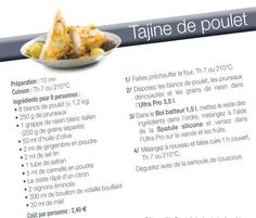 Chicken tagine Source by angelgaudy Tupperware Recipes, Cuisine Diverse, Diy Food, Raisin, Food And Drink, Healthy Recipes, Healthy Food, Chicken, Eat