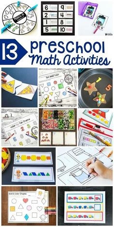 Preschool math activities are a fun way to teach your toddler math. Incorporate preschool math activities into your homeschool curriculum planning. Learning activities for toddlers should be fun and these printable math activities can do that. Preschool Math Games, Numbers Preschool, Toddler Learning Activities, Free Preschool, Homeschool Curriculum, Preschool Activities, Curriculum Planning, Math Math, Educational Activities