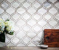 mosaïque de verre de design moderne à effet marbréà motifs exotiques