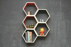 Floating shelves, they do sell these at Typo..