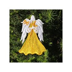 Embroidery Lace Angel, Angel with Cross Ornament, Easter Angel... (€4,99) ❤ liked on Polyvore featuring home, home decor, cross home decor, butterfly home decor and easter home decor