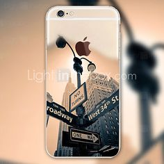 Scenery Signpost Pattern TPU Material Phone Case for iPhone 6s 6 Plus 2016 - $3.99