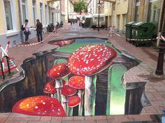 3D street art by Lydia and Vanessa Hitzfeld