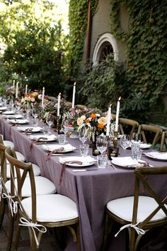 McKenize Powell purple tablescape