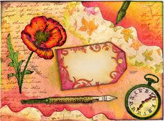 Romance Collage mail art (by JellySock)  This beautiful envelope just happened to wing it's way to me :D