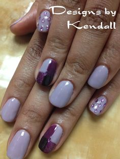 Purple shellac nails. Nail designs