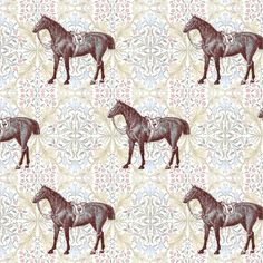 William Morris' Horse fabric by ragan on Spoonflower - custom fabric -- if we have a girl (someday) this is ammmaaazzzingggggg