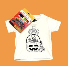 Halloween Color-A-Shirt Kit Washable Youth Size S-XL - 2/3T