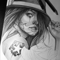 27 Best Gangster Girl Tattoo Drawings Images Chicano Drawings