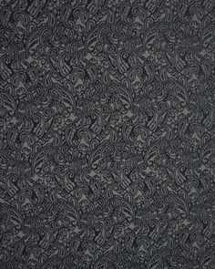 """Polyester Jacquard Fabric - Navy Paisley  SKU : 1011121  £8.00 per mtr  A soft polyester jacquard fabric with a small paisley design in deep navy blue on a silver grey background. This richly patterned fabric is perfect for waistcoats and special occasion wear.  This fabric is 150cm (60"""") wide"""