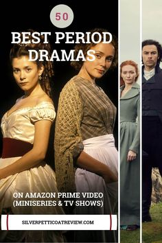 Here is a list of the best period dramas on Amazon Prime to watch in 2020. From romantic period dramas, historical drama TV shows, British period dramas, and more. #PeriodDramasOnAmazonPrime #perioddramas #romanticperioddramas #britishperioddramas #perioddramasseries Best Period Dramas, Period Drama Movies, British Period Dramas, British Drama Series, Drama Tv Series, Tv Series To Watch, Amazon Prime Movies, Amazon Prime Shows, Amazon Prime Video