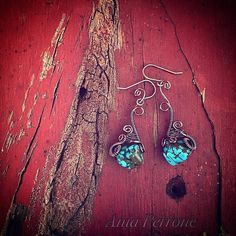 A personal favorite from my Etsy shop https://www.etsy.com/listing/265025686/antique-copper-wire-wrapped-turquoise