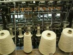 Wool Spinning Mills | Twisting two plies of spun wool to make yarn - twisting is the word ...