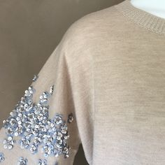 J. Crew Sequin Detail Sweater, Pretty XL New Pretty sweater with sequin detail on sleeves Size XL New with tag 50% Wool 50% Acrylic J. Crew Sweaters Cowl & Turtlenecks
