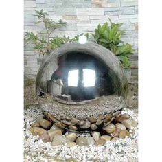 Stainless Steel Sphere Water Feature