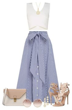 A fashion look from May 2016 featuring Lisa Marie Fernandez, heeled sandals and purse bag. Browse and shop related looks. Fashion Mode, Look Fashion, Womens Fashion, Classy Outfits, Stylish Outfits, Looks Chic, Mode Inspiration, Mode Style, Skirt Outfits