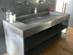 Plan vasque lavoir en Beton