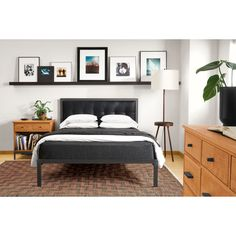 The modern Chapman bed combines leather and steel to create a unique bed great for a master bedroom. The leather headboard panel adds extra comfort and the hand-welded steel frame is very durable. Modern Bedroom Furniture, Entryway Furniture, Modern Room, Living Room Furniture, Modern Wall, Modern Contemporary, Contemporary Furniture, Office Furniture, Outdoor Furniture