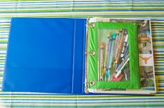 Kids Road trip binder.  Fun idea to keep kids entertained and everything together.
