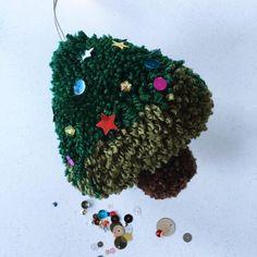 Pompom Christmas Tree by Sew Yeah