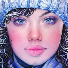 So excited for December! Here's a close up crop of my Winter Girl colored pencil drawing while I finish up my self portrait this week and start some new stuff! ☺️❄️