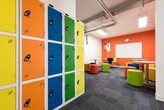 Concentrix, a global software and business services provider, required a fast track fit out throughout their new three-storey office. Lockers, Locker Storage, Software, Divider, Track, London, Business, Fitness, Room