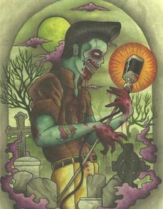 psychobilly zombie pinups - Google Search