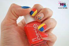 Más de 15 fotos de uñas decoradas con la bandera de Colombia   Decoración de Uñas - Manicura y Nail Art