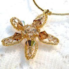 pink topaz fish   Starfish Necklace, Sandy Topaz Tan Brown Star Fish Jewelry, Beadwork ...