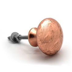 copper door knobs. copper and silver hammered cupboard door knobs k