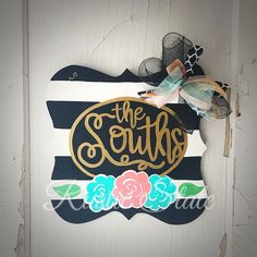 Door Hanger Year Round Last Name Personalized Family Name Fast