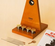 Slip into any room unnoticed by mastering the complex art of lockpicking from this training kit.The kit comes with four different lock styles to practice on and includes all the tools you'll need to become a master lockpick with a little practice and dedication.