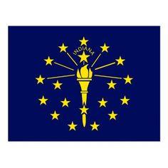 Indiana State Flag Postcard