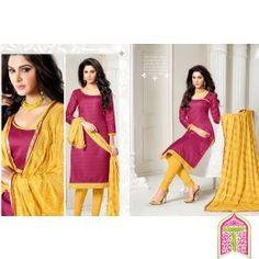 Unstitched Churidar Glossy And Trendy Look chennai fashion