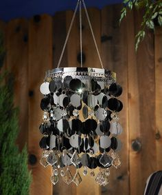 Take a look at this Platinum Anywhere Shimmer Chandelier by Exhart on #zulily today!