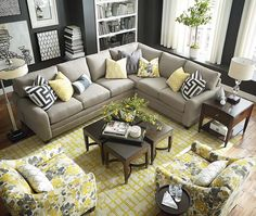 This style is CU-2 the L-Shaped Sectional by Bassett Furniture - has the rolled arms - I think I like the armless better