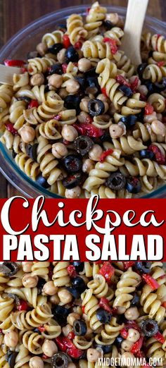 This Chickpea Pasta Salad Recipe is a flavorful, colorful, tasty cold pasta salad recipe that is perfect for anytime!