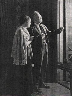 """Vintage 1933, George M. Cohan with Edna Heinemann in a scene from """"Ah, Wilderness"""", Guild Theater, NYC, www.RevWill.com"""